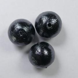 Miyuki Cotton pearls, 12mm, Black