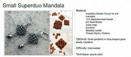 Gratis patroon Superduo Mandala