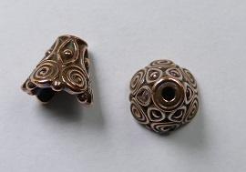 Eindkapjes, kegelvorm , 8,5x9,5mm, Antique Copper Plated