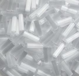 Miyuki Bugles, 6mm, Crystal Silk Satin, kleurnummer 37