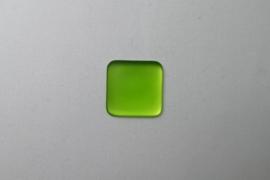 Lunasoft Cabochon Vierkant 17 mm, Lime