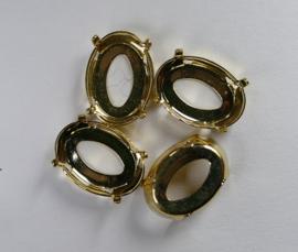 Setting voor Ovaal, 14x10 mm, goudkleurig