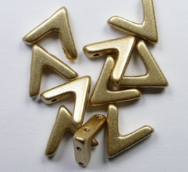 AVA beads, 4x10 mm, Aztec Gold