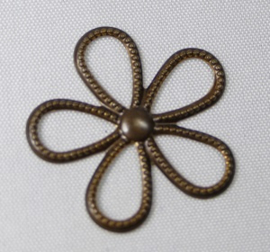 Vintaj beaded flower