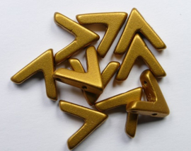 AVA beads, 4x10 mm, Brass Gold
