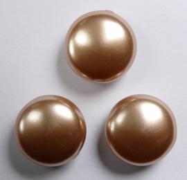 Coin parels, 16 mm, Swarovski, Rose Gold