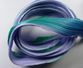 Shibori zijde per 1/4 yard: Lavender Aqua Mermaid