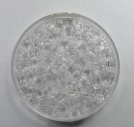 2 hole Bar Beads, 6x3 mm, Czech Mates, Crystal