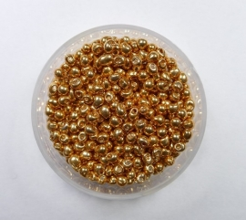 Miyuki Drops, 2,8mm, Galvanised Yellow Gold, kleurnummer 1053