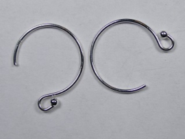 Oorhaakjes, Sterling Zilver 12,5 mm