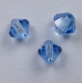 4 mm Aquamarine Swarovski Element Bicones