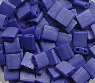 Miyuki Tila Beads, 5x5 mm , Opaque Matte Luster Cobalt, kleurnummer 2075