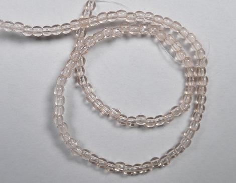 Round Beads , 2 mm, Czech Glass, Rosaline