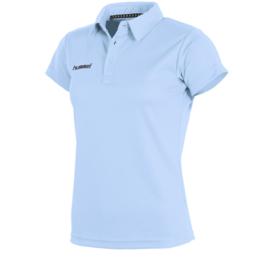Lichtblauwe sportieve dames polo van Hummel