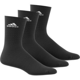 3 Paar zwarte sportsokken van Adidas