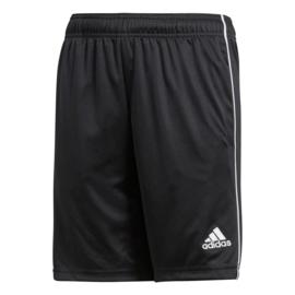 Zwarte korte sportbroek Adidas Core 18