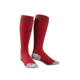 Rode Adidas sokken met zwarte ringen