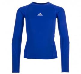 Blauw Adidas thermoshirt junior