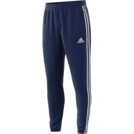 Blauwe Adidas trainingsbroek met witte strepen TIRO 19