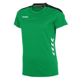 Groen Hummel Valencia T shirt met korte mouwen voor dames