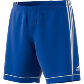 Blauwe voetbalbroek Adidas met witte strepen Squad