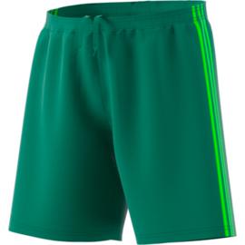 Groene korte broek Adidas groene strepen Condivo 18