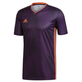 Adidas Tiro 19 paars shirt korte mouw