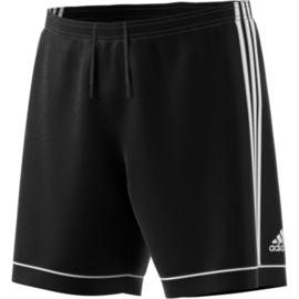 Zwarte voetbalbroek Adidas met witte strepen Squad