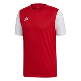 Junior rood Estro 19 Adidas shirt met korte mouwen