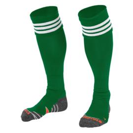 Groene sokken met witte ringen