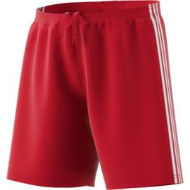Rode korte broek Adidas witte strepen Condivo 18