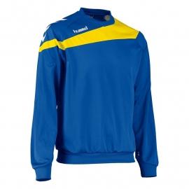 Kinder Hummel Elite sweater blauw met lichtblauwe bies