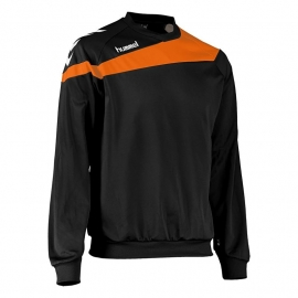 Hummel Elite sweater zwart met oranje bies kindermaat