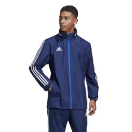Blauwe All weather jas Adidas TIRO 19