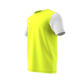 Junior geel Estro 19 Adidas shirt met korte mouwen