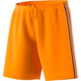 Oranje korte broek Adidas zwarte strepen Condivo 18
