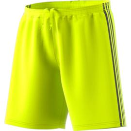Gele korte broek Adidas zwarte strepen Condivo 18