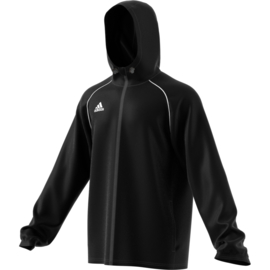 Junior regenjas Zwart  Adidas Core 18