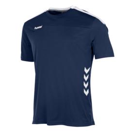 Donkerblauw Hummel Valencia shirt met korte mouwen