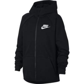 Nike tech fleece hoody junior zwart