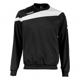 Hummel Elite sweater zwart met witte bies