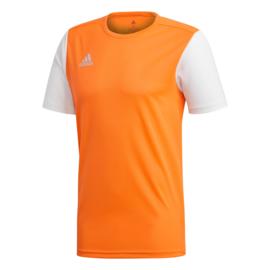 Junior oranje Estro 19 Adidas shirt met korte mouwen