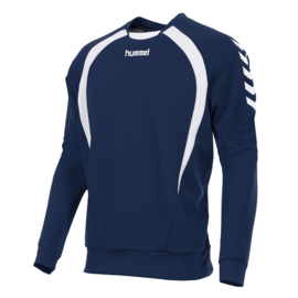 Hummel Teamlijn sweater donkerblauw junior