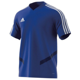 Adidas Tiro 19 junior training jersey blauw shirt korte mouw