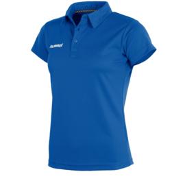 Blauwe sportieve dames polo van Hummel