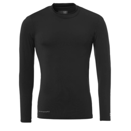 Zwart ondershirt / thermoshirt junior en senior Uhlsport