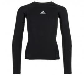 Zwart Adidas thermoshirt junior