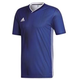 Adidas Tiro 19 donkerblauw shirt korte mouw