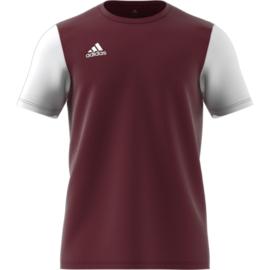 Junior maroon Estro 19 Adidas shirt met korte mouwen
