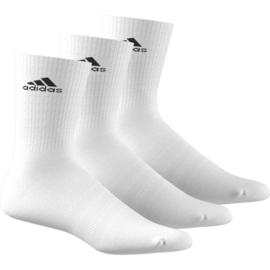3 Paar witte sportsokken van Adidas